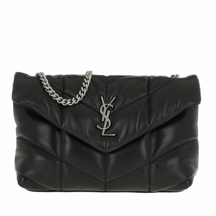 Handtasche, Saint Laurent, Mini Puffy Crossbody Bag Leather Nero