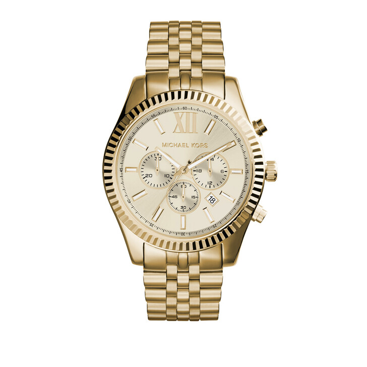 Uhr, Michael Kors, MK8281 Gents Lexington Oversize Watch Gold-Tone
