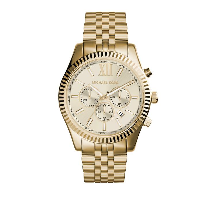 watches, Michael Kors, MK8281 Gents Lexington Oversize Watch Gold-Tone