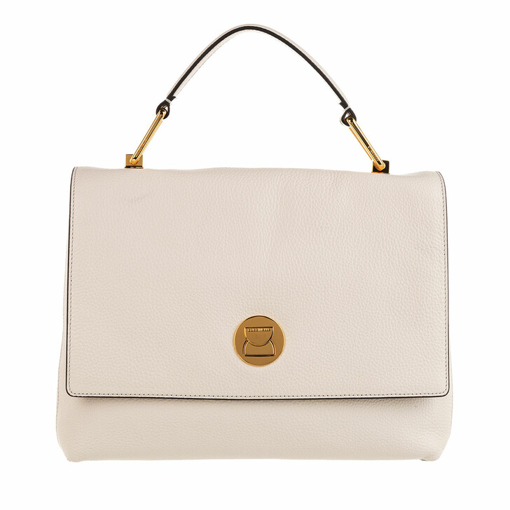 Handtasche, Coccinelle, Liya Tote Bag Lambskin White/Taupe