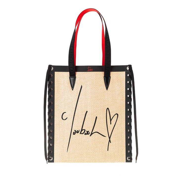 Handtasche, Christian Louboutin, Cabalace Small Tote Bag Leather Natural/Black