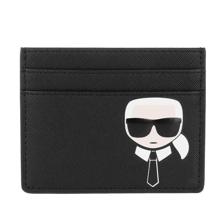 Geldbörse, Karl Lagerfeld, K/Ikonik Classic Card Holder  Black