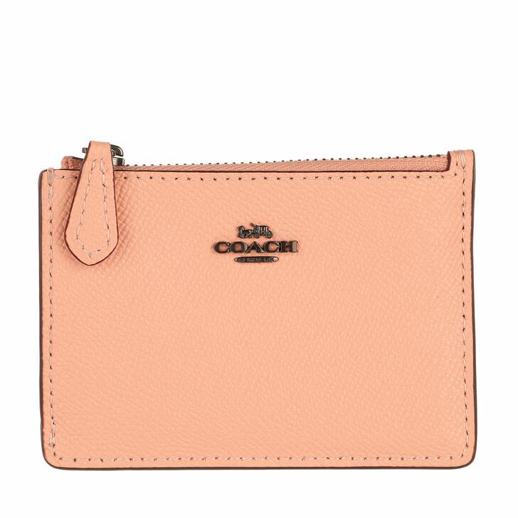 wallets, Coach, Crossgrain Mini Id Skinny V5/Faded Blush
