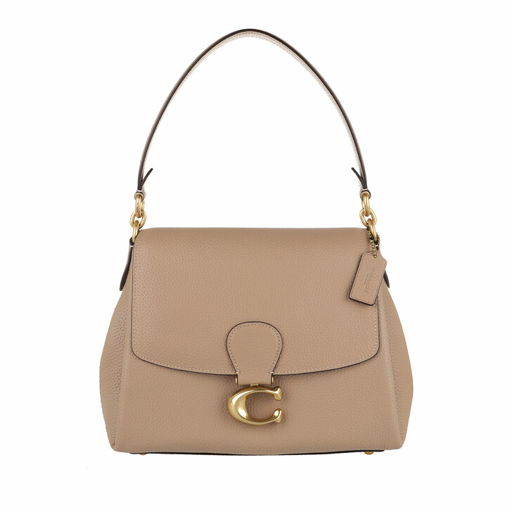 bags, Coach, Soft Pebble Leather May Shoulder Bag Taupe