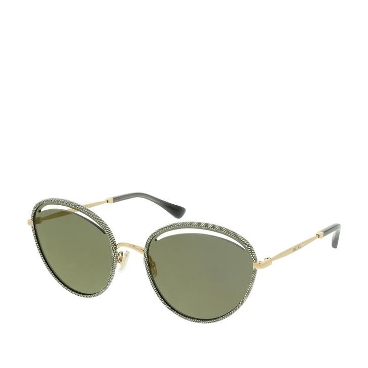 Sonnenbrille, Jimmy Choo, MALYA/S Gold Glitter Grey