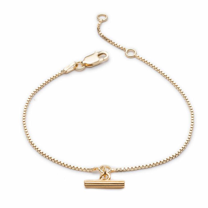 Armreif, Rachel Jackson London, Mini Gold T-Bar Bracelet Gold