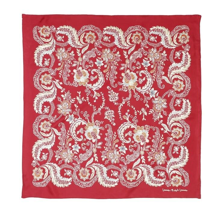 Schal, Lauren Ralph Lauren, Frances Square Scarf Silk Orient Red