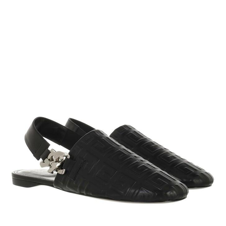 shoes, Givenchy, 4G Logo Slipper Black
