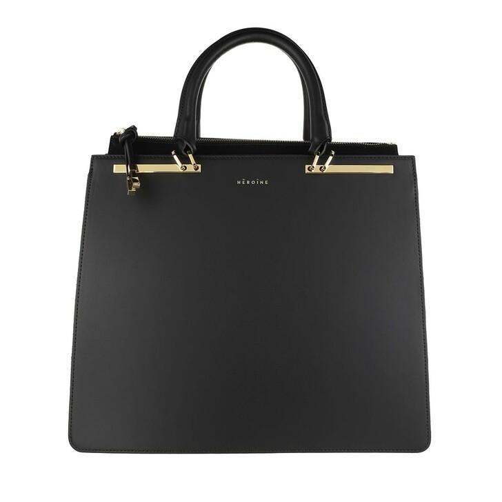 Handtasche, Maison Hēroïne, Sophie 13'' Laptop Bag Black Lavagna