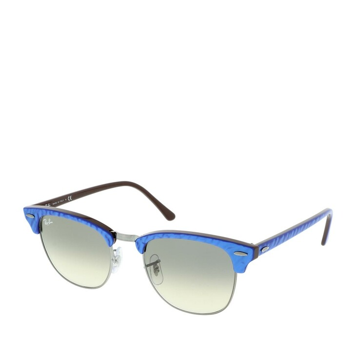 Sonnenbrille, Ray-Ban, 0RB3016 131032 Unisex Sunglasses Icons Top Wrinkled Blue On Brown