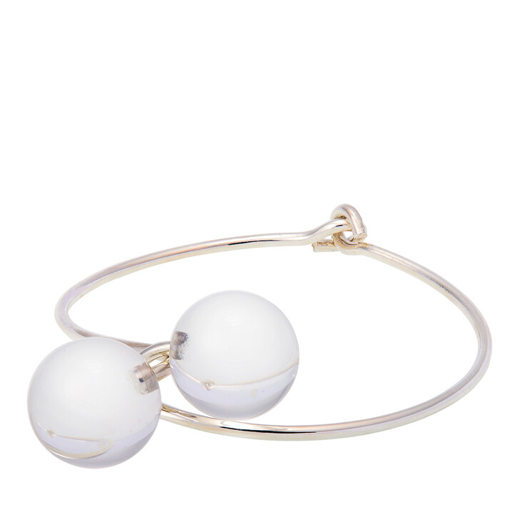 Armreif, Saskia Diez, Belle Bangle Rock Crystal Transparent Silver