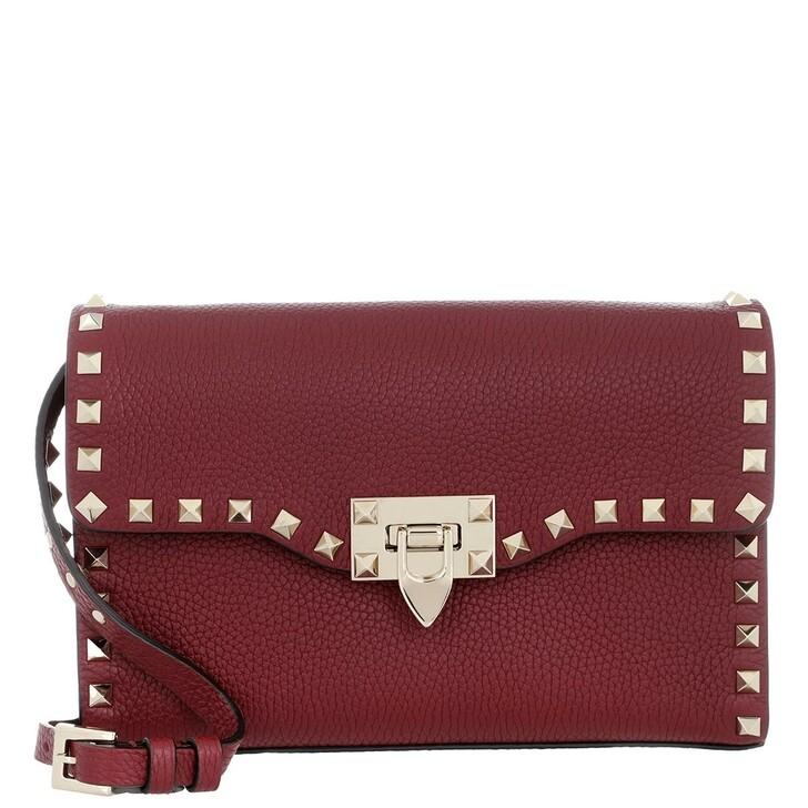 bags, Valentino Garavani, Rockstud Small Crossbody Bag Pastel Cerise Bordeaux