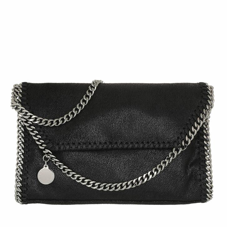 Handtasche, Stella McCartney, Falabella Shaggy Deer Mini Shoulder Black