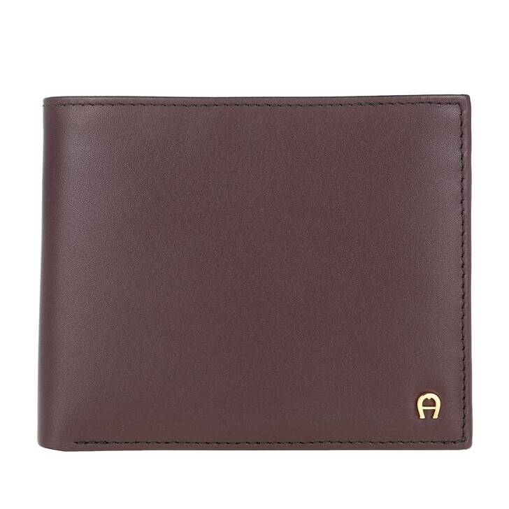wallets, AIGNER, Basic Wallet Leather Antic Rot