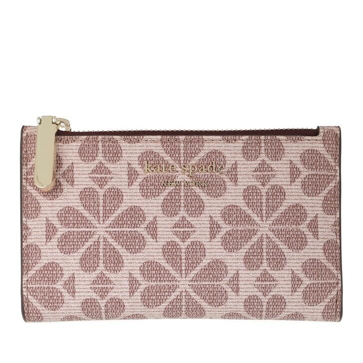 Geldbörse, Kate Spade New York, Small Slim Bi Fold Wallet Pink Multicolor