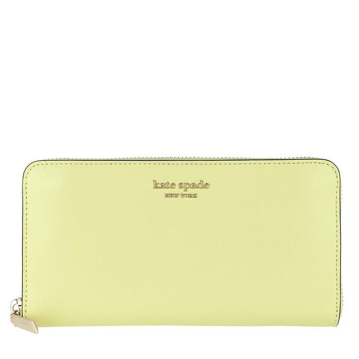 wallets, Kate Spade New York, Spencer Zip Around Continental Wallet Lemon Sorbet
