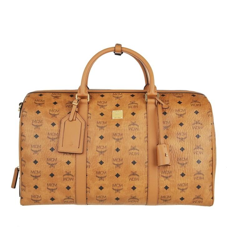 bags, MCM, Traveler Visetos Weekender 045  Cognac