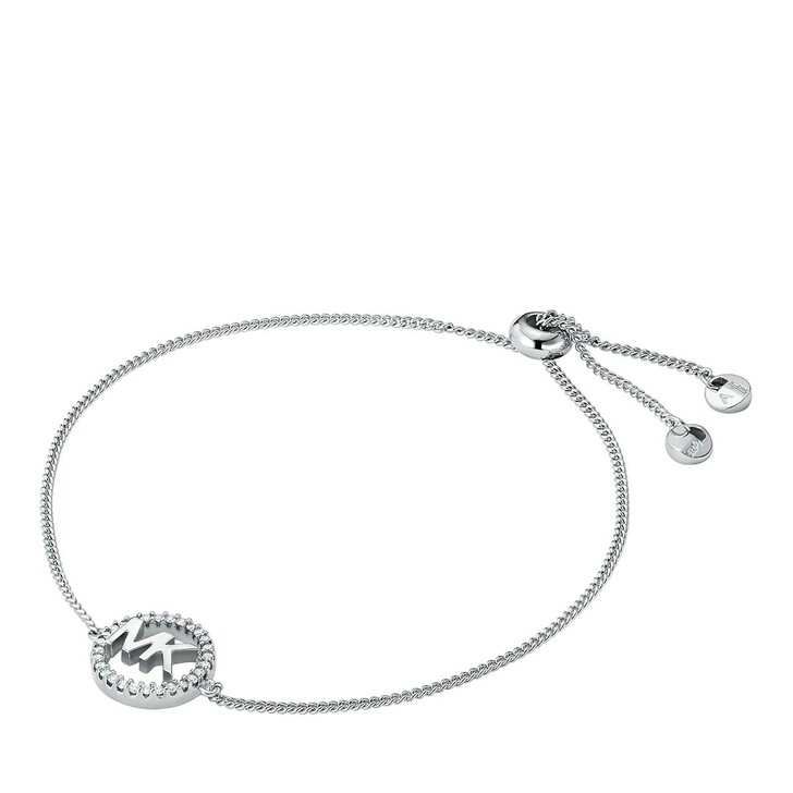 bracelets, Michael Kors, Sterling Silver Logo Slider Bracelet Silver