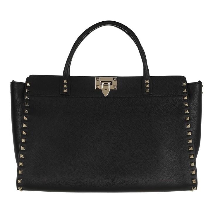 Handtasche, Valentino Garavani, Satchel Bag Leather Black