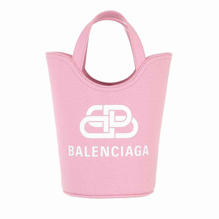 Handtasche, Balenciaga, Small Wave Logo Tote Bag Pink