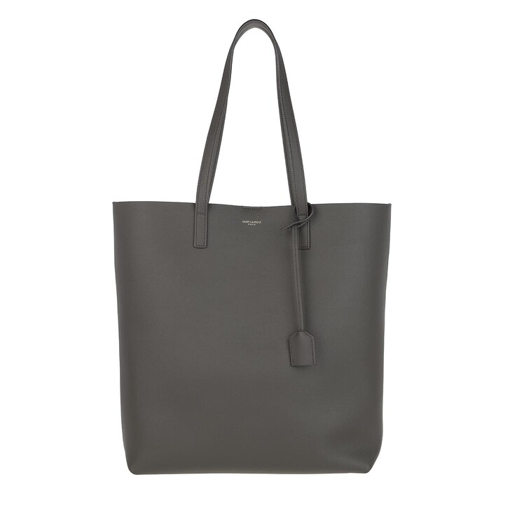 bags, Saint Laurent, North South Tote Leather Pebble