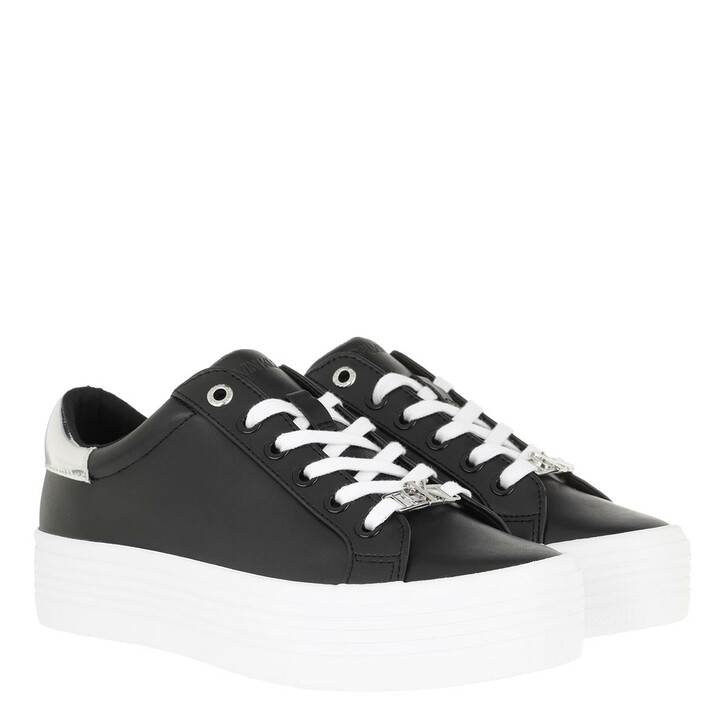 Schuh, Calvin Klein, Vulcanized Flatform Sneakers Leather Black