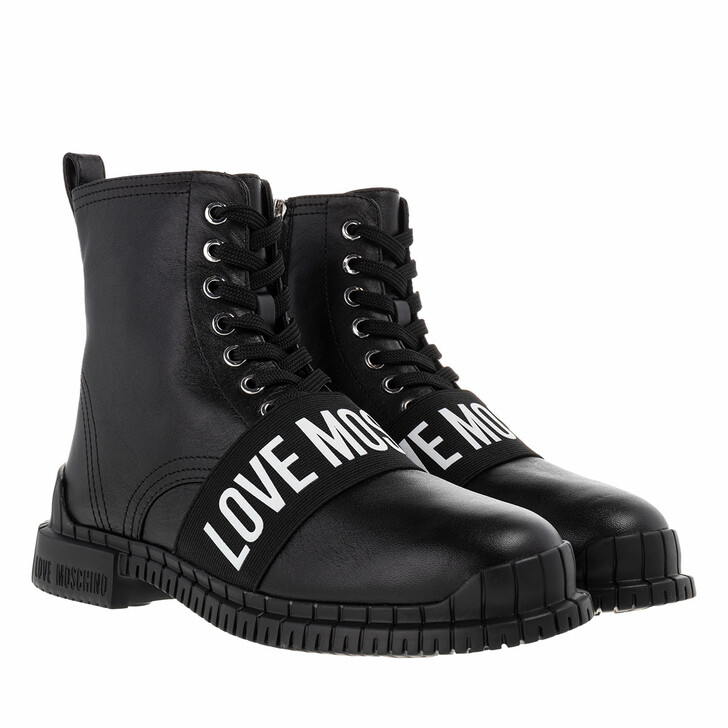 Schuh, Love Moschino, St Ttood Gommar30 Vitello  Nero