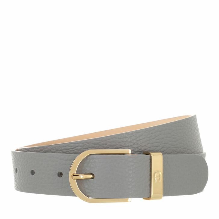 belts, AIGNER, Casual Belt 3 cm Slate Grey