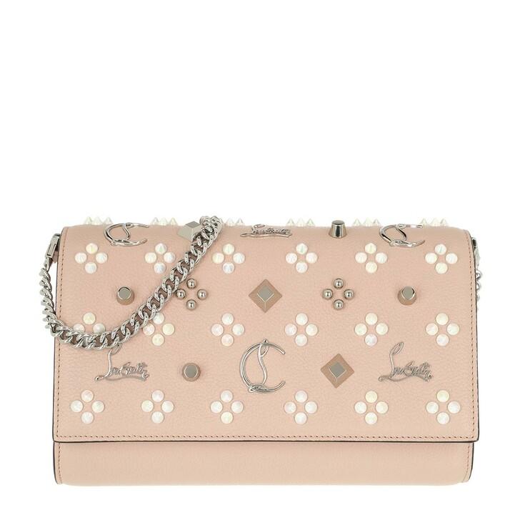 Handtasche, Christian Louboutin, Paloma Clutch Rose