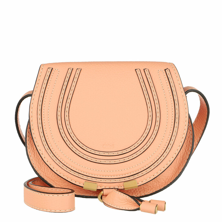 Handtasche, Chloé, Marcie Shoulder Bag Small Peach Bloom