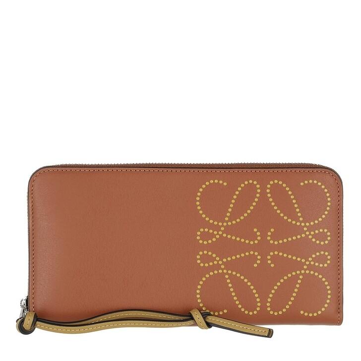 Geldbörse, Loewe, Zip Around Wallet Calfskin Tan/Ochre