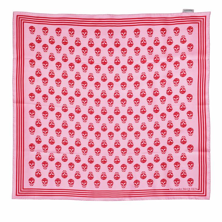 scarves, Alexander McQueen, Biker Scarf 90X90 Rose/Red