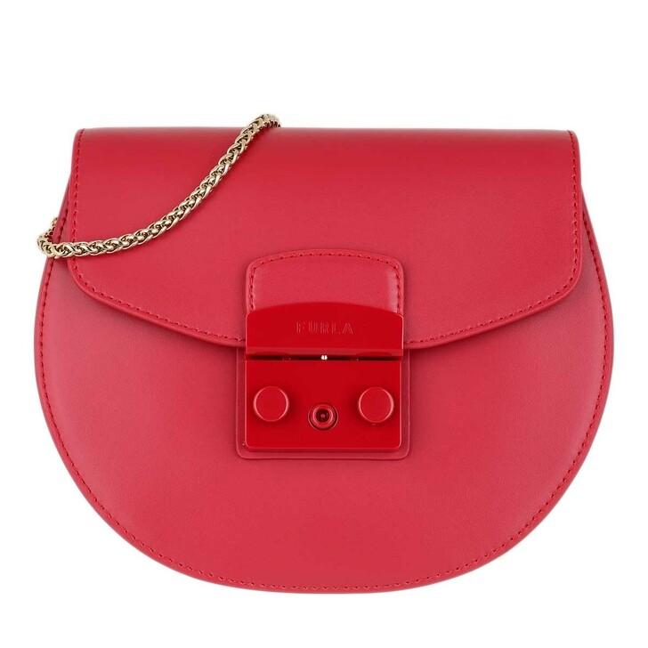 Handtasche, Furla, Metropolis Round Mini Crossbody Bag Ruby