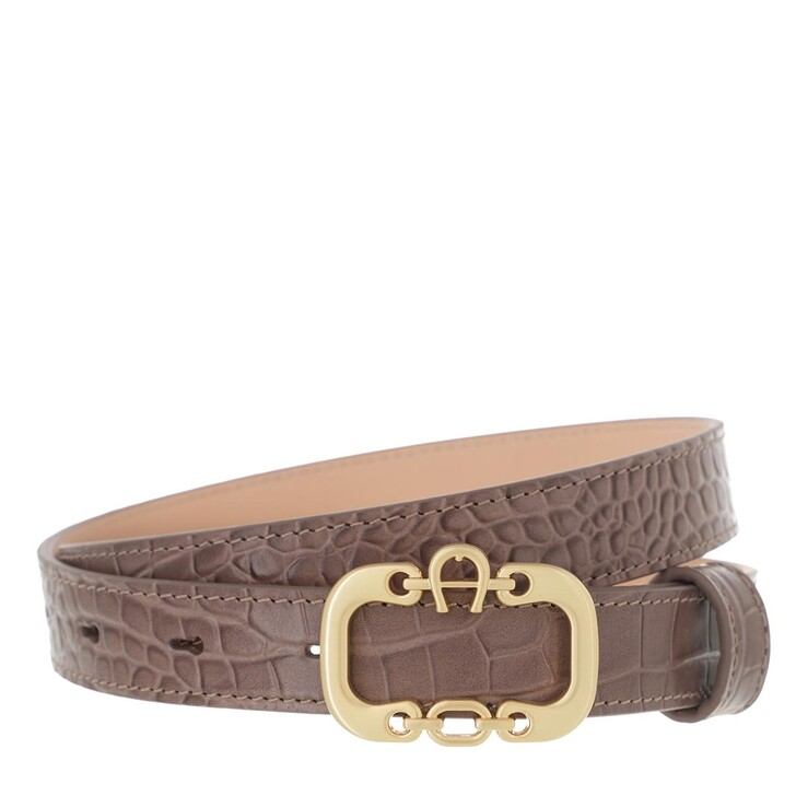 belts, AIGNER, Celia Belt 2,5 cm Mushroom Brown