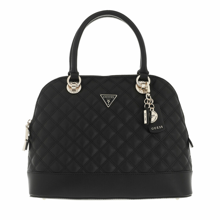 bags, Guess, Cessily Dome Satchel Black