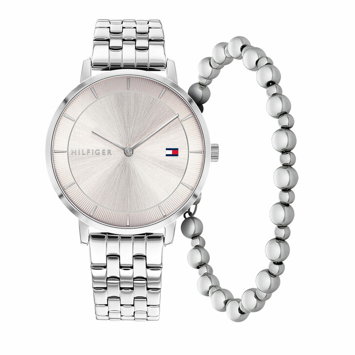 watches, Tommy Hilfiger, Ladies gift set 3 Tea Watch Casual Bracelet Silver