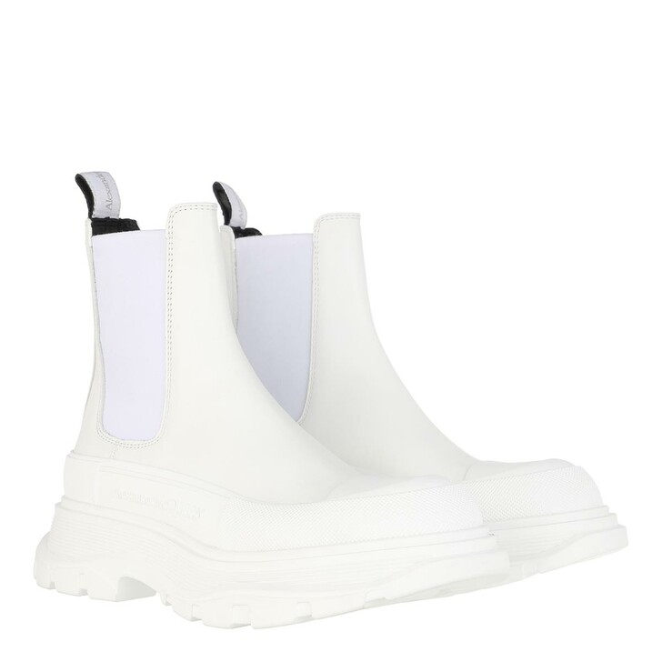 shoes, Alexander McQueen, Chunky Sole Boots White/Silver