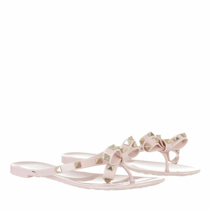 shoes, Valentino Garavani, Rockstud Flip Flops Water Rose
