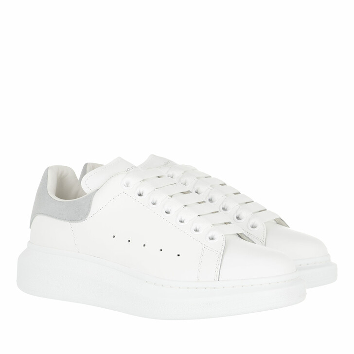 shoes, Alexander McQueen, Sneakers Leather White Grey