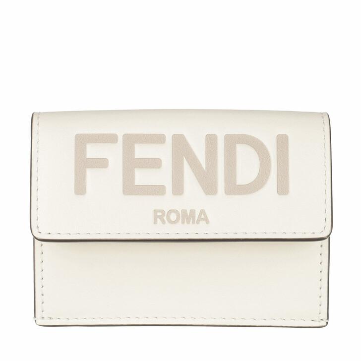 Geldbörse, Fendi, Logo Wallet Leather White