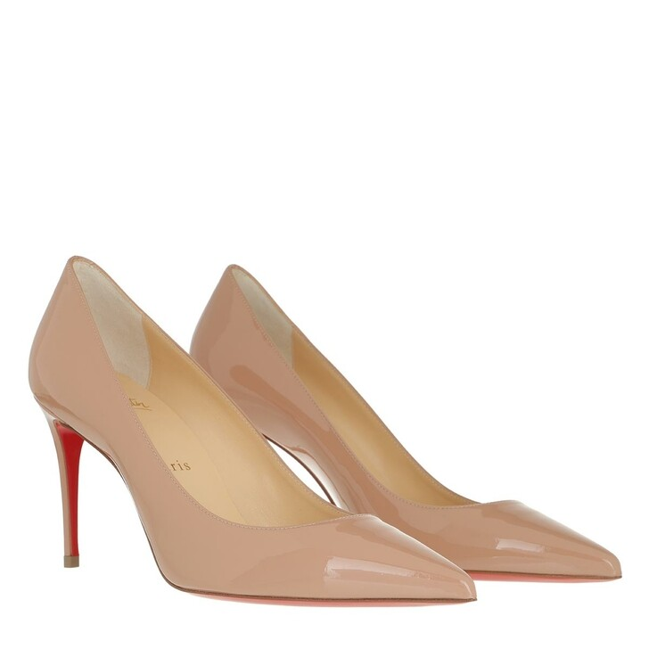 shoes, Christian Louboutin, Kate 85 Pumps Leather Nude