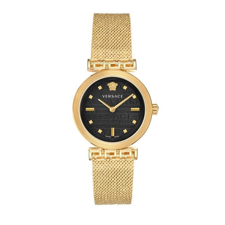 Uhr, Versace, Greca Motiv Watch Gold