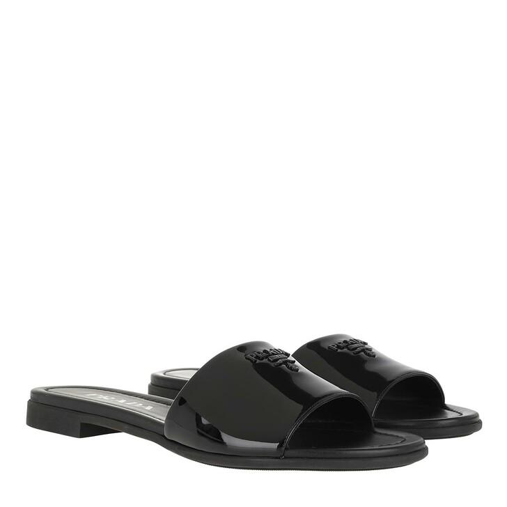 Schuh, Prada, Sandal Patent Leather Black