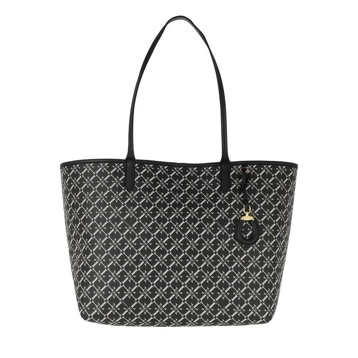 Handtasche, Lauren Ralph Lauren, Collins 32 Tote Medium Black Heritage Logo