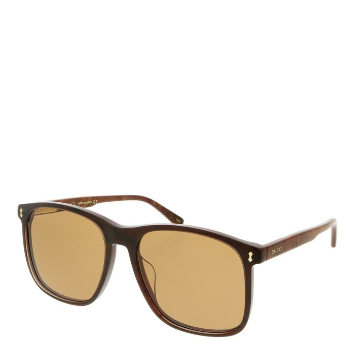 sunglasses, Gucci, GG1041S-003 57 Sunglass Man Acetate Brown-Brown-Brown
