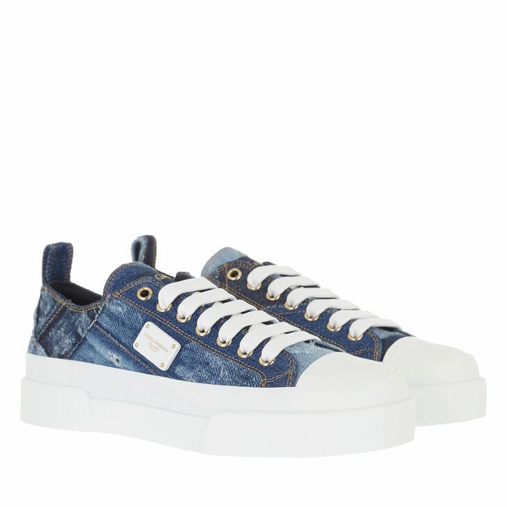 shoes, Dolce&Gabbana, Portofino Light Sneakers Denim/White