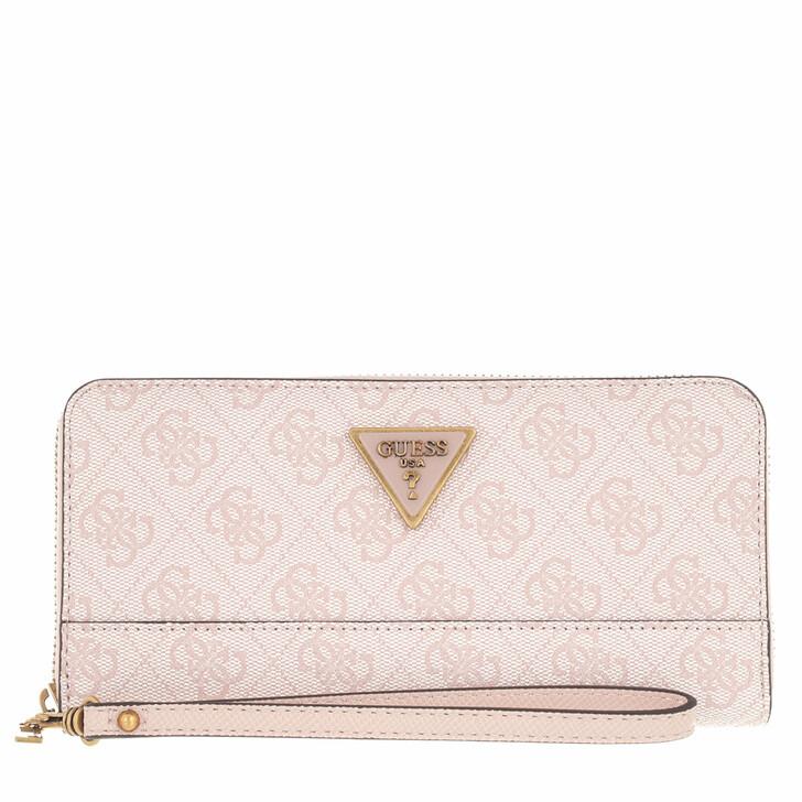 wallets, Guess, Cordelia Logo Large Zip Around Blush  Logo