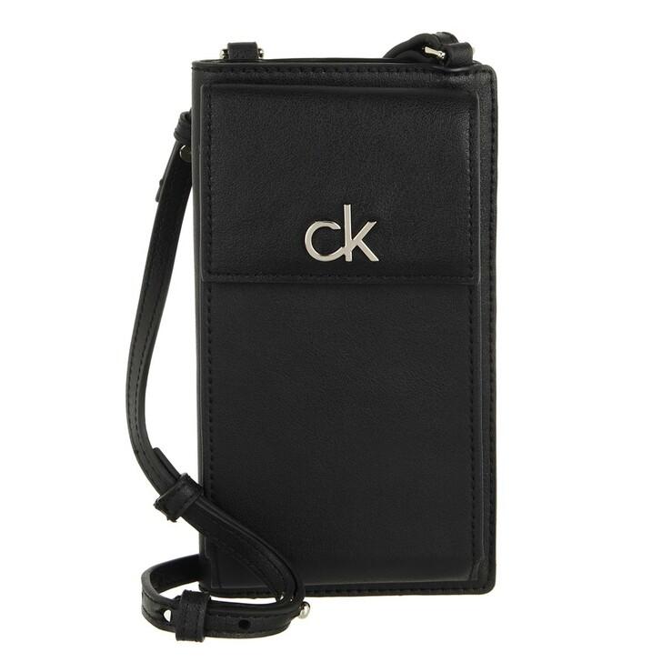 wallets, Calvin Klein, Re-Lock Phone Xbody Card Wallet CK Black