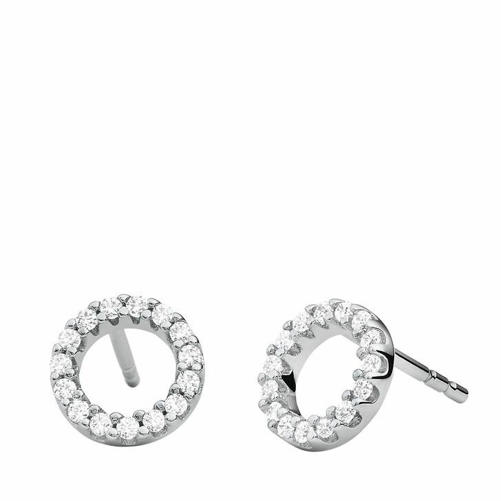 Ohrring, Michael Kors, Sterling Silver Pavé Circle Stud Earrings Silver