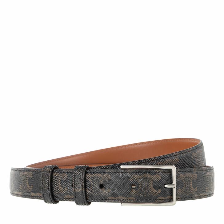 Gürtel, Celine, Logo Monogram Belt Leather Black